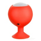 Portable Rechargeable Mini Speaker w/ Suction Cup for Iphone / Ipad - Red + White (3.5mm / 5V)