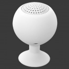 Portable Rechargeable Mini Speaker w/ Suction Cup for Iphone / Ipad - White (3.5mm / 5V)