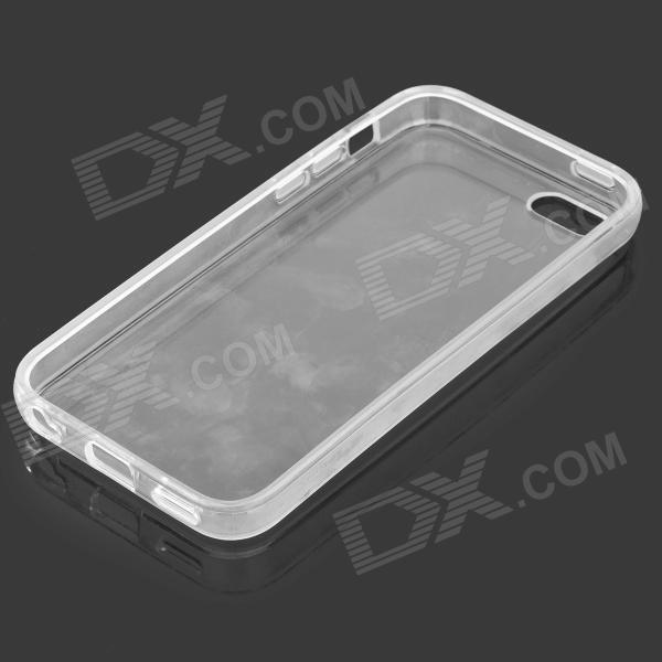 Simple Protective PC Back Case for Iphone 5C - Transparent White top lcd iphone 5c