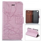 FLOWER SHOW Protective PU Leather Case for Iphone 4 / 4S - Pink
