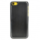Protective Aluminum Alloy + PC Back Case for Iphone 5C - Black
