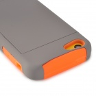 Caso 2-in-1 PC + Silicone Protective para Iphone 5C - Gris Naranja +
