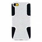 Protective PC Mesh + Silicone Back Cases for Iphone 5C - White + Black