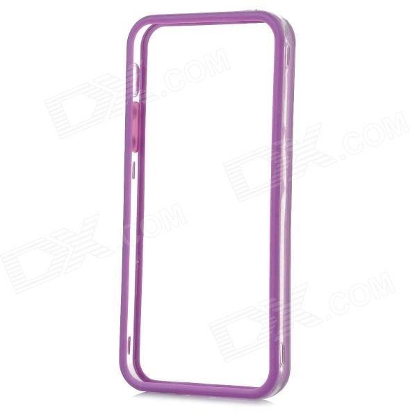 Protective TPU + PC Bumper Frame for Iphone 5S / 5G - Purple + Transparent protective tpu   pc bumper frame for lg