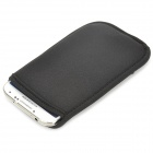 Protective Neoprene Pouch Bag for Samsung Galaxy S4 - Black
