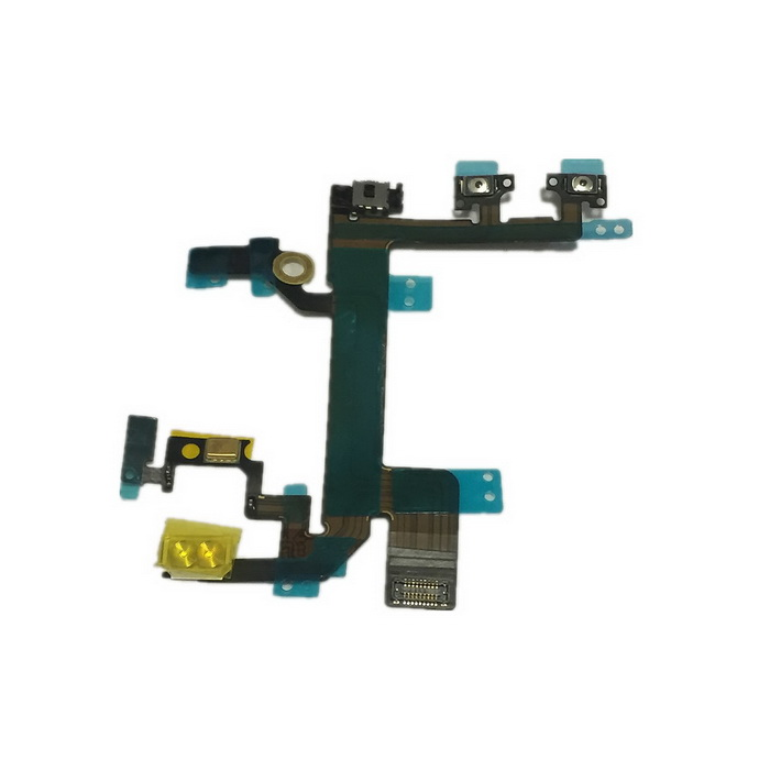Repair Parts Replacement Flashlight / Mute / Volume Key Flex Cable for Iphone 5S - Black