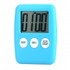 "Portable 1.7"" LCD Kitchen Timer w/ Stand - Blue (1 x L1131)"