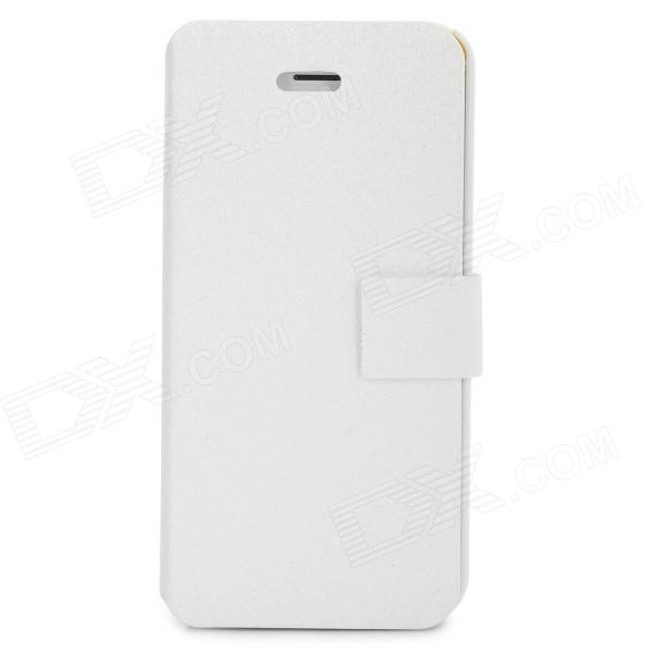 Protective PU Leather + ABS Case for Iphone 5C - White костюм цыганки 48