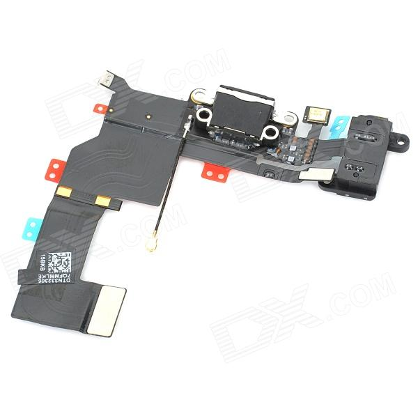 Repair Parts Replacement Audio / Charging / Transmitter Flex Cable Module for Iphone 5S - Black replacement charging tail plug connector flex cable for iphone 6 4 7 black blue multi colored