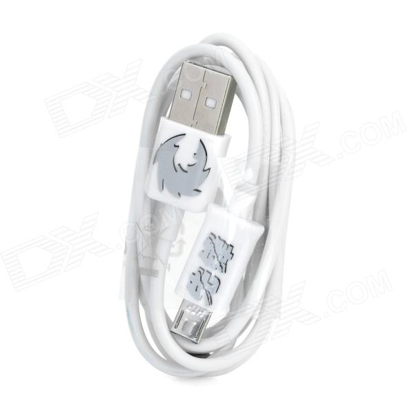 Universal USB to Extended Micro USB Data/Charging Cable for Cell Phone - White universal usb to micro usb data charging cable for cell phone mp3 mp4 black