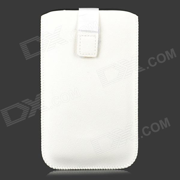 Protective PU Leather Pouch Bag for Samsung Galaxy Note 3 - White