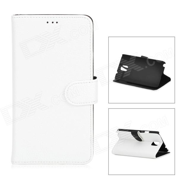 Lychee Grain Style Protective PU Leather Case for Samsung Galaxy Note 3 N900 - White