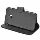 Protective PU Leather Case for HTC One Mini M4 - Black