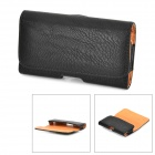 Stylish Protective PU Leather Case w/ Belt Clip for Samsung Galaxy S4 i9500 - Black