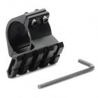 Universal 25mm Caliber Double Pin Aluminum Alloy Guide Rail Mount for Guns - Black
