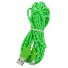 USB to Micro 5-pin USB Woven Data / Charging Sync Cable for Cell Phone - Green + Purple (290cm)