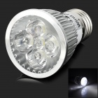 WindFire E27 5W 300lm 6500K 5 LED White Light Spotlight - Silver (85~265V)