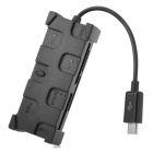 Universal 5-in-1 MS / SD / SDHC / MMC / MMC2 / TF Card Reader for Samsung Android Phone - Black