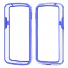 Protective TPU + PC Bumper Frame for LG Nexus 4 E960 - Purple + Transparent