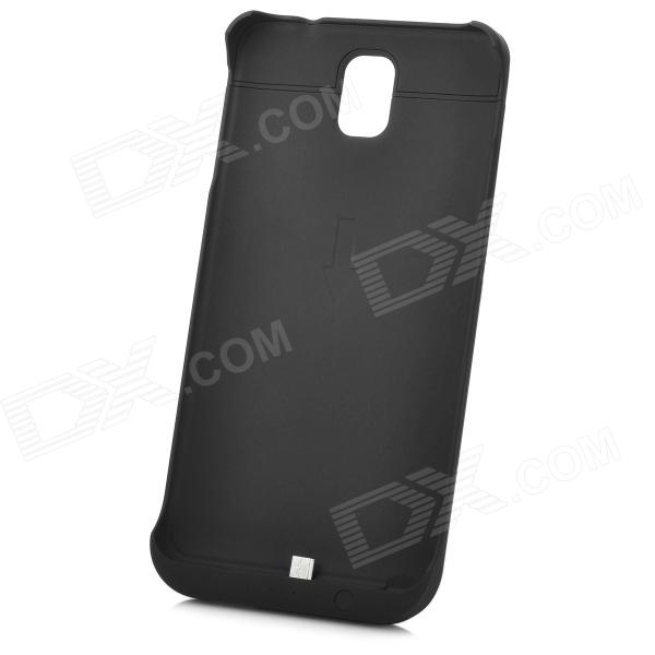 3800mAh Emergency Battery Back Case w/ Stand for Samsung Galaxy Note 3 - Black