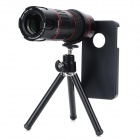 LIEQI LQ-009 6 ~ 18X Zoom Telescope w / Back Case + Stativ für iPhone 4 / 4S - Schwarz