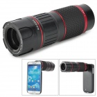 LIEQI LQ-009 6~18X Mobile Phone Telephoto Lens w/ Tripod / Case for Samsung S4 i9500 - Black
