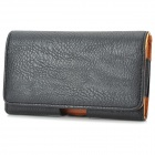 Stylish Protective PU Leather Case w/ Belt Clip for Samsung Galaxy Note 3 - Black