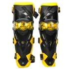 FX K12 Stylish Protective Motorcycle Knee Supports - Yellow + Black (Pair)