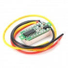 "W05 0,28 ""3-siffrig Red Light DC 0 ~ 100V Digital Voltmeter Header"