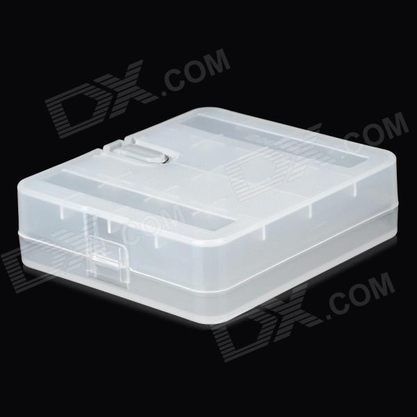 Plastic Battery Storage Case for 18650 / 17670 / 16340 / CR2 - Translucent White