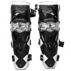 FX K12 Stylish Protective Motorcycle Knee Supports - White + Black (Pair)