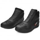 SCOYCO MBT002 Motorcycle Bicycle Men's Leather Short Boots - Black (Size 44)