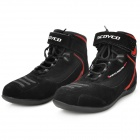 SCOYCO MBT001 Motorcycle Bicycle Men's Short Boots - Black (Size 44)
