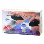 7101 Handy Portable Folding 45X Jewelry Identification Magnifier w/ Purple Light Currency Detector