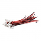 1.5- 2P DIY 1.5mm Pitch 2 pines Single Tip Cable Terminal - Negro + Rojo + Blanco (20 PCS)