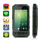 "MOXIV M8 Ultra-Rugged Waterproof Android 4.2 WCDMA Cellphone w/ 4.0"", 4GB ROM / GPS / Wi-Fi - Green"