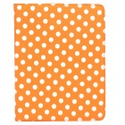 CT1211022 Protective PU Leather + Plastic Rotary Case w/ Stand for Ipad 2 / 3 / 4 - Orange + White