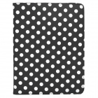 CT1211024 Protective PU Leather + Plastic Rotary Case w/ Stand for Ipad 2 / 3 / 4 - Black + White