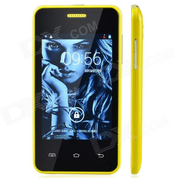 MG2 (G2A) MTK6572 Android 2.3.5 GSM Cell Phone w/ 3.5″ Screen, Bluetooth, FM and Quad-Band – Yellow