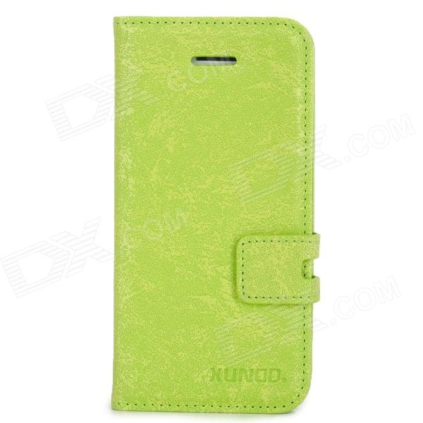 XUNDD Protective PU Leather + TPU Case for Iphone 5C - Green