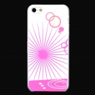 Glow-in-the-Dark Ultra-Thin Matte PVC Back Case for iPhone 5 / 5S - White + Pink