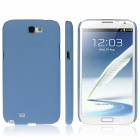 ENKAY Quicksand Style Protective Plastic Back Case for Samsung Galaxy Note 2 / N7100 - Blue