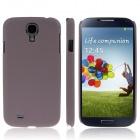 ENKAY Quicksand Style Protective Plastic Back Case for Samsung Galaxy S4 i9500 - Brown
