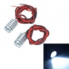 CHEERLINK18MM 3W 50lm 2-LED White Eagle Eye Car Front Bulb / Daytime Running / Backup Light (2 PCS)