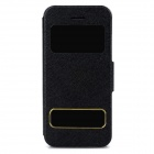 Protective PU Leather + Plastic Case w/ Auto Sleep for iPhone 5c - Black