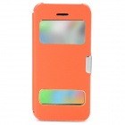 Ultrathin Protective PU Leather + Plastic Case w/ Auto Sleep for Iphone 5C - Orange