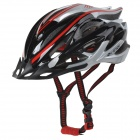 KUYOU KY-039 Outdoor Bicycle One-Piece Helmet - Black + Silver + Red (Free Size)