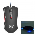 KSD 201 USB 2.0 Wired Optical 800 / 1200 / 1600 / 2400dpi Gaming Mouse - Black