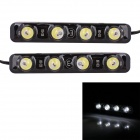 1W 72lm 6000K 4-SMD 5050 LED White Light Car Daytime Running Lamps - (DC 12V / 2 PCS)