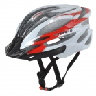 KUYOU KY-003 Outdoor Bicycle One-Piece Helmet - Red + White (Free Size)